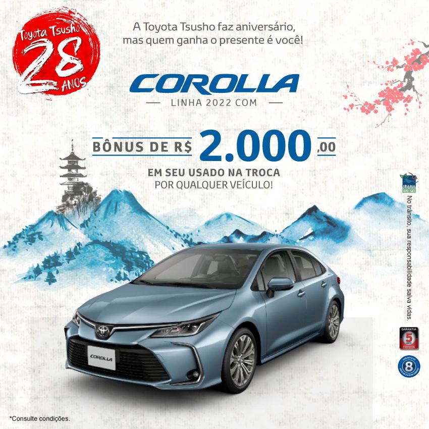 Corolla 2022 - Setembro/21
