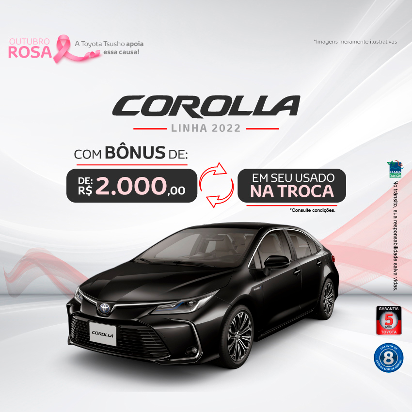Corolla 2022 - Outubro/21