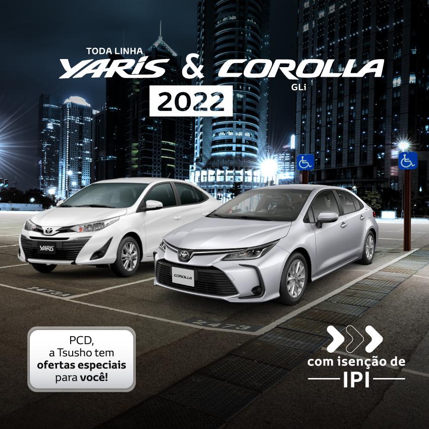 PCD Corolla e Yaris - Agosto/21